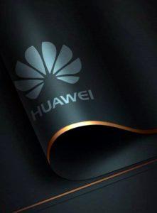 Логотип HUAWEI в чёрном