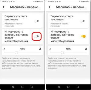 Экран 5 и 6 Масштаб в браузере