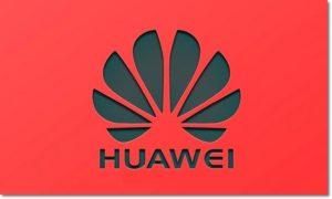 Логотип HUAWEI на красном поле