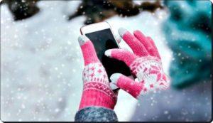 Фото 2 Смартфон на морозе