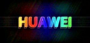 Логотип Huawei неон