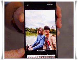 Фотон на экране смартфона