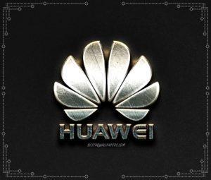 Лого Huawei в металле