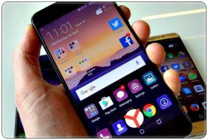 Смартфон с кнопкой Яндекс.Браузера