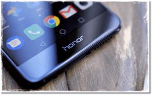 Смартфон Honor с браузером Chrome