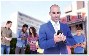 Бизнесмен с Huawei