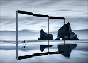 Три Экрана смартфона Honor