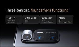 Три сенсора вместо 4 камер на Xiaomi Mi Mix Fold